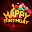 Vector de stock : Birthday background