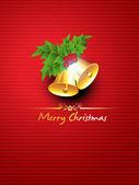 Krásné vánoční zvonečky — Stock vektor