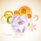 Flower design — Vecteur