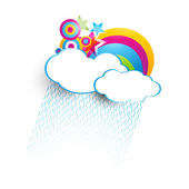 Colorful cloud — Vector de stock