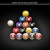 Glossy pool ball — Stock Vector