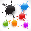 Colorful paint splashes set — Stock Vector #12710535