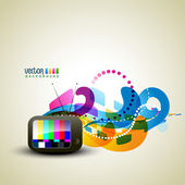 Colorful tv — Stock Vector
