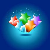 Colorful star design — Vettoriale Stock