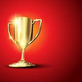Gouden trofee illustratie — Stockvector