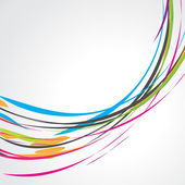Diseño colorido abstracto de la onda — Vector de stock