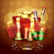 Diwali crackers — Vector de stock