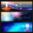 Diwali festival headers — Stock Vector #13545055