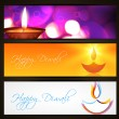Vector diwali headers — Stock Vector