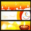 Royalty-Free Stock Vector Image: Colorful diwali headers