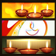 Diwali festival headers — Stock Vector #13545079