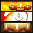 Stock Vector: Diwali festival headers