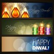 Diwali festival headers — Stock Vector #13545101