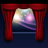 Fireworks illustration — Stock Vector