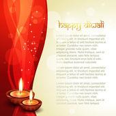 Diwali festival diya — Stockvector