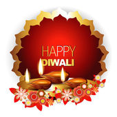 Happy diwali background — Vettoriale Stock