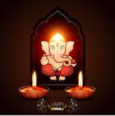 Indian god ganesh — Stock Vector