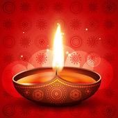 Diwali festival diya — Stock Vector