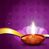 Hindu festival diya — Stock Vector