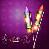 Diwali festival cracker — Vector de stock