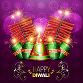 Diwali crackers background — Stock Vector
