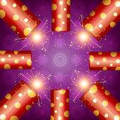 Shiny diwali crackers — Stock Vector