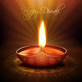 Diya festival de diwali — Vetor de Stock