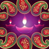 Stylish vector diwali background — Stock Vector