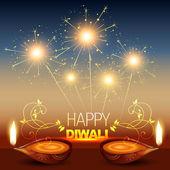 Shiny diwali background — Stock Vector