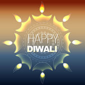 Artistic happy diwali — Stock Vector