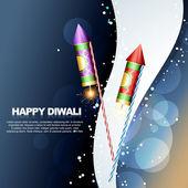 Diwali festival crackers — Stock Vector