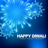 Happy diwali fireworks — Vector de stock