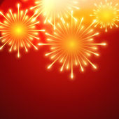 Vector fireworks — Vector de stock