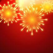 Vector fireworks — Stockvektor