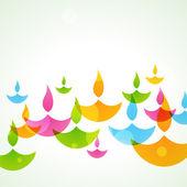 Fondo colorido diwali — Vector de stock