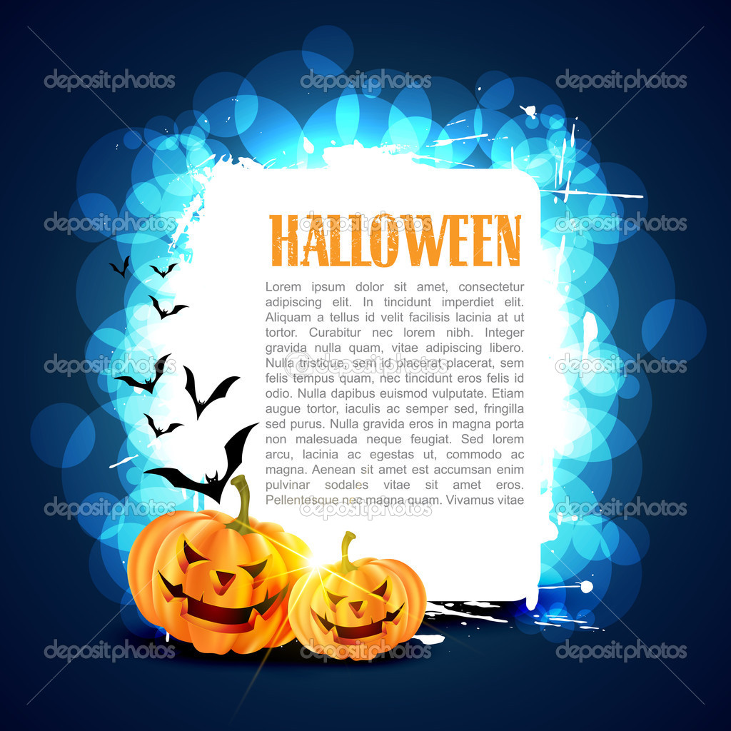 Vector halloween card with space for your text — Stock Vector #13699620