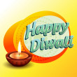 Happy diwali background — Vector de stock