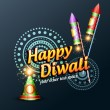 Happy diwali background — Image vectorielle