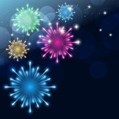 Colroful fireworks — Stock Vector