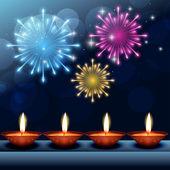 Beautiful happy diwali background — Stock Vector