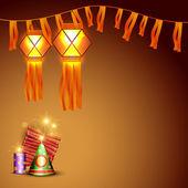 Diwali crackers background — Stock Vector
