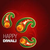Happy diwali design — Stock Vector