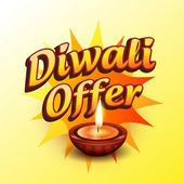 Diwali offer — Stock Vector