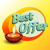 Best diwali offer — Stock Vector