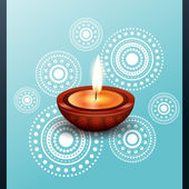 Beautiful diwali diya — Stock Vector