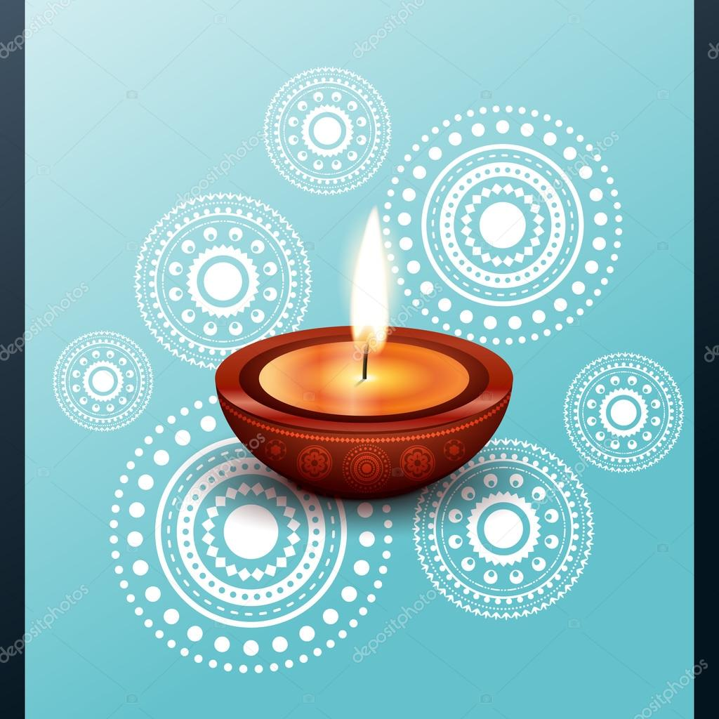 Vector beautiful diwali diya