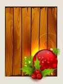 Стильный веселый новогодний фон — Cтоковый вектор