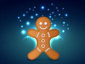 Vector christmas cookie — 图库矢量图片