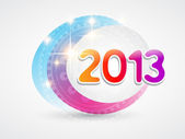 Shiny colorful new year design — Stock Vector