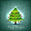 Vector christmas tree design — Stock Vector